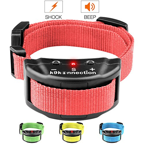 K9KONNECTION [New Color Collars] Dog No Bark Shock Collar Training System with Harmless Warning Beep & 7 Levels of Adjustable Sensitivity Control for Small, Medium & Large Dogs - Manual Included (No Bark Dog Training Collar)