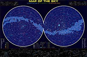 Map of the Sky Poster 36 x 24in