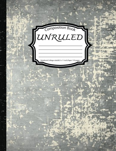 Composition Book Unruled: Notebook College ruled: Concrete Texture: (Blank Composition Book 8.5 x 11 inch,Paper 150 pages)