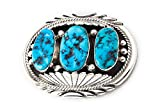 Vintage Silver Sleeping Beauty Turquoise Pin Navajo