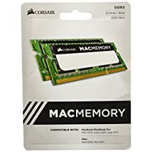 Corsair Apple Certified 8GB (2x4GB) DDR3 1333 MHz PC3 10666 Laptop Memory (CMSA8GX3M2A1333C9)