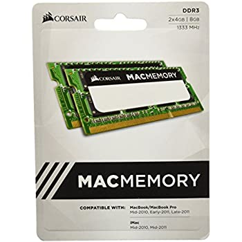 Corsair Apple Certified 8GB (2x4GB)  DDR3 1333 MHz (PC3 10666) Laptop Memory 1.5V