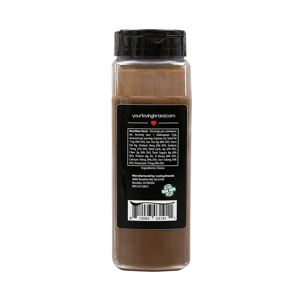 Loving Spoonful 16oz (454g) Premium Ground Cloves | Food Service 1lb Bulk Size (Bottle) by Loving Spoonful (Image #2)