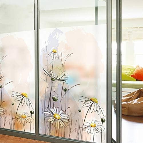 Hokcus - Tubo de Cristal para Puerta corrediza de baño, tamaño Personalizado, para decoración del hogar, diseño de Margaritas: Amazon.es: Hogar
