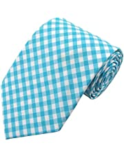 Jacob Alexander Boys' Prep Gingham Checkered Pattern Neck Tie