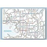 鉄道路線図 下敷き 関西 日本語版