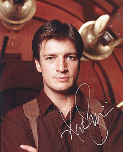 NATHAN FILLION as Mal Reynolds - Serenity/Firefly GENUINE AUTOGRAPH