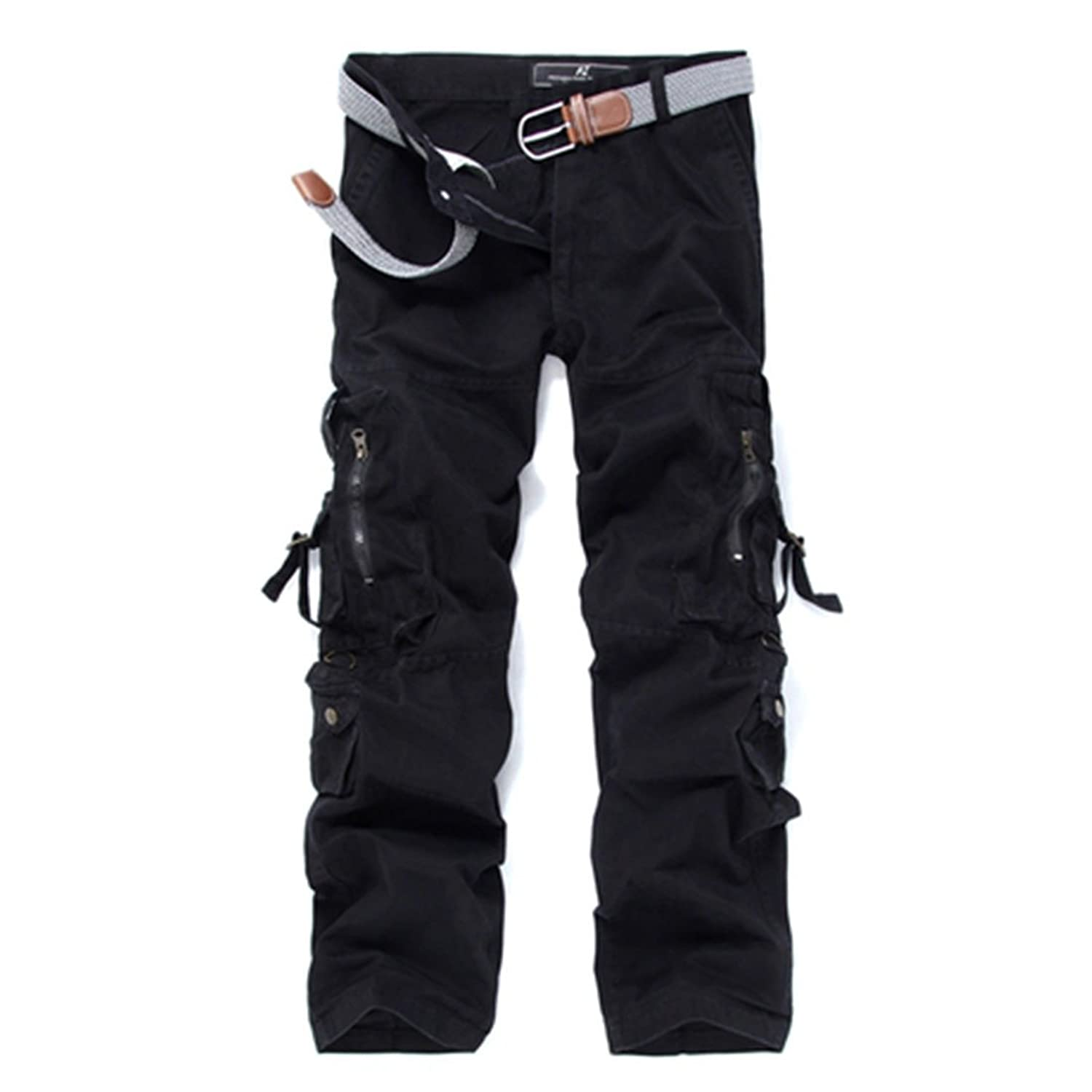 Faddish Men Army Military Combat Washable Multi-Pocket Pants Overalls Trousers