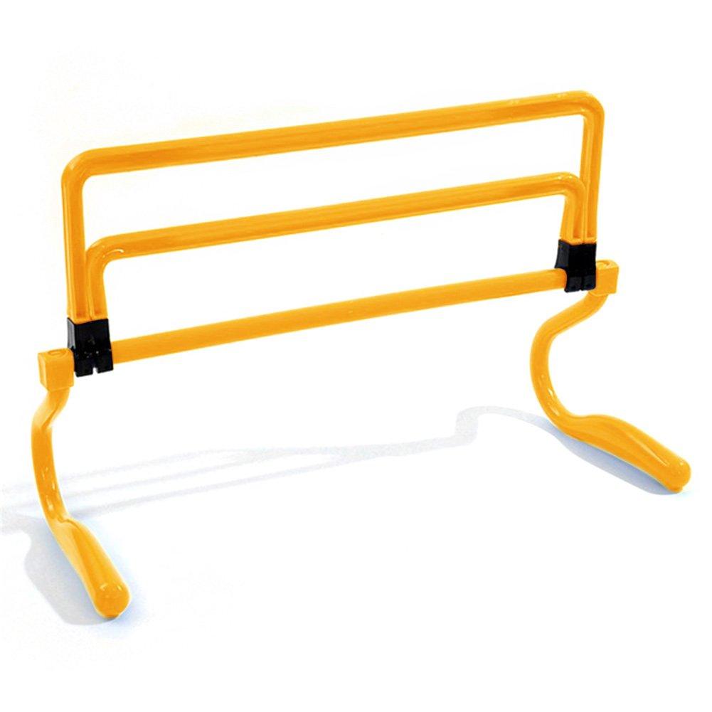 DAVEVY 6PCs Football Training Hurdle Assembled Removable Adjustable Football Soccer Training Hurdle Footwork Hurdle,Agility and Speed Training(Yellow)