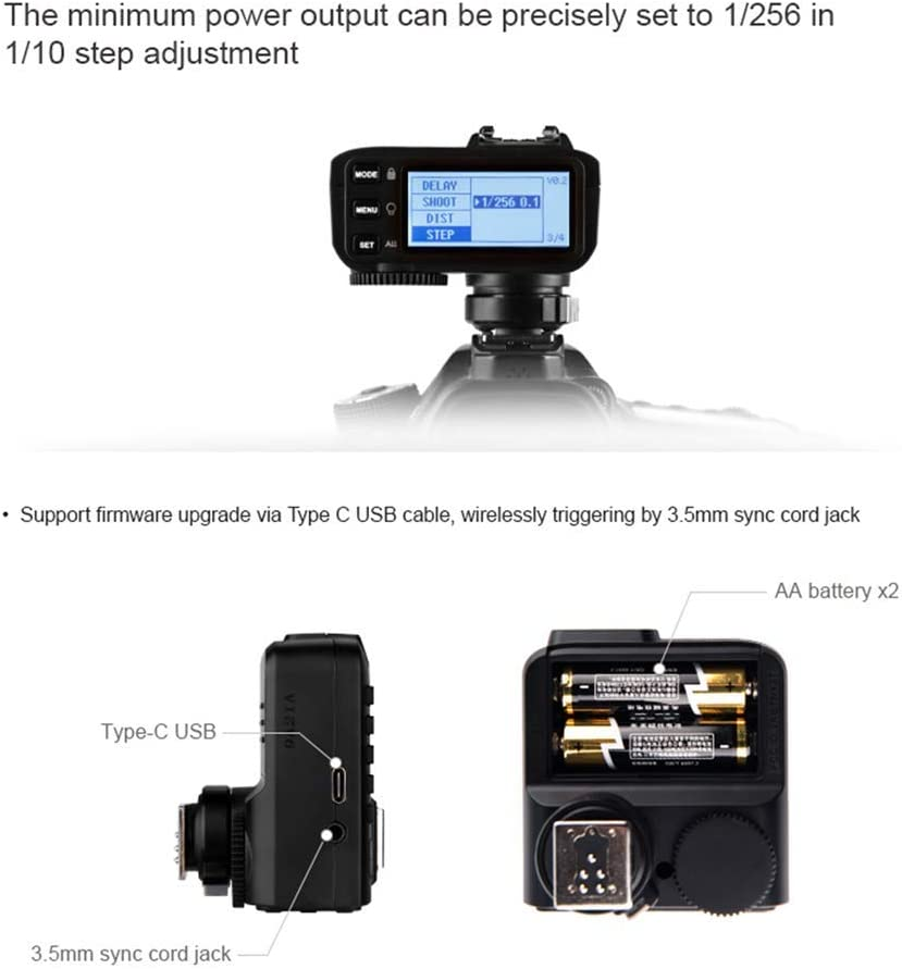 Godox X2T-S TTL Wireless Flash Trigger Transmitter for Sony Bluetooth Connection