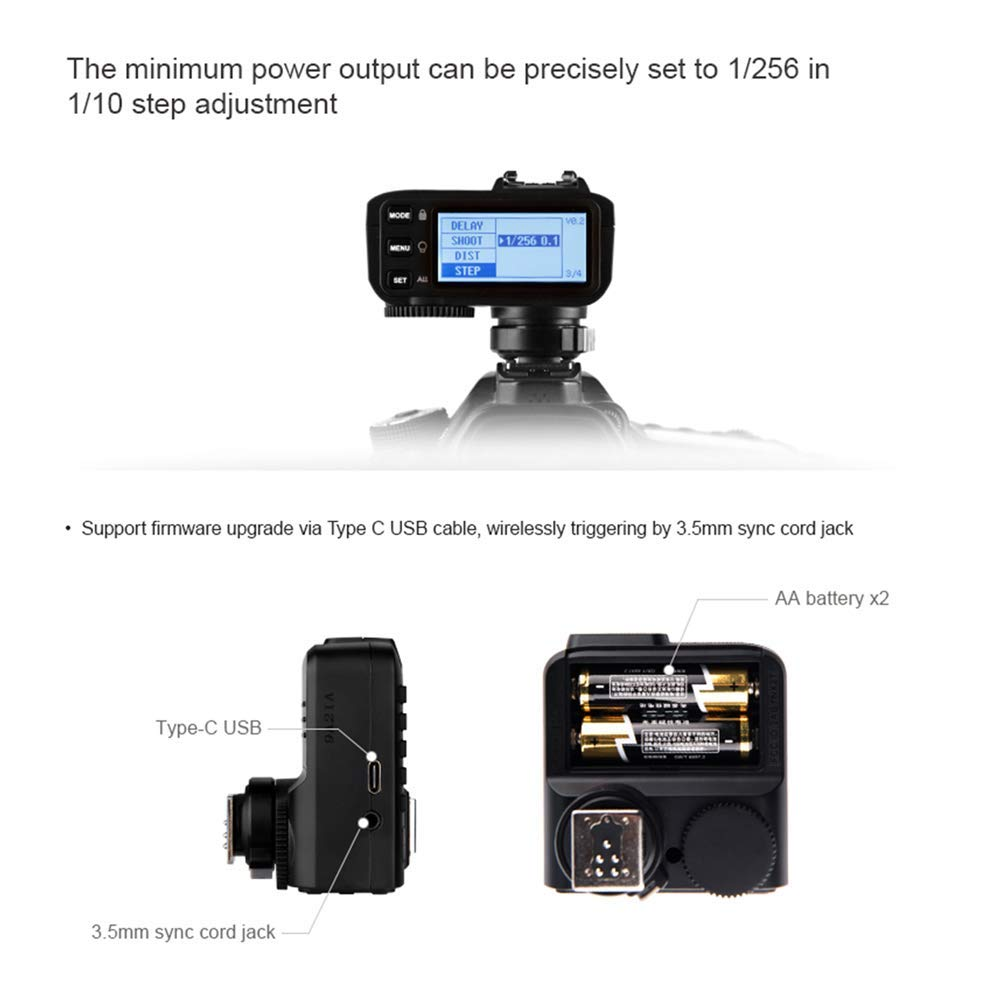 Godox X2T-C TTL Wireless Flash Trigger Transmitter for Canon Bluetooth Connection Supports iOS/Android App Contoller 1/8000s HSS TCM Function 5 Separate Group Buttons X1T Upgrade Version by Godox (Image #4)