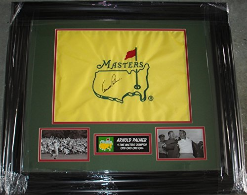 Arnold Palmer Hand Signed / Autographed The Masters Flag - Augusta National -...