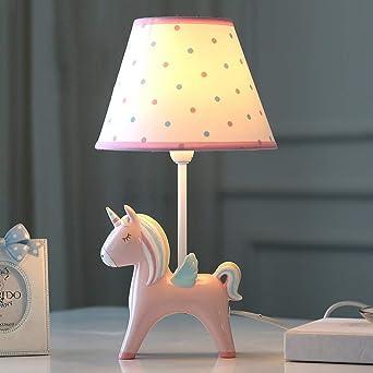 Smc Desk Lamps Children S Room Cartoon Unicorn Led Table Lamp Bedroom Bedside Lamp Creative Boy Girl Cute Decorative Table Lamp Color Pink Amazon Co Uk Lighting