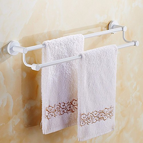 HOMEE European Style Bathroom White Towel Rack Bathroom Towel Stainless Steel Towel Rack,70cm by HOMEE