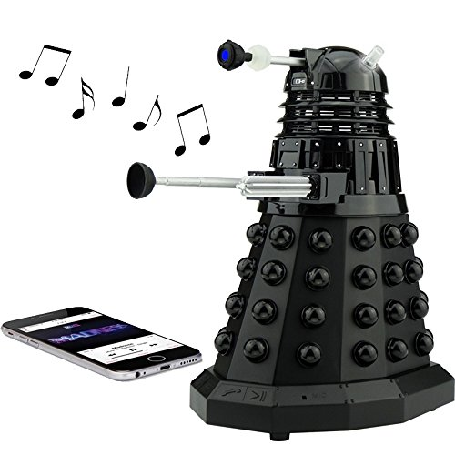 Doctor Who Dalek Merchandise | Fametek Bluetooth Speaker - Plays Music, Lights Up, Sounds Effects | Unique Gifts for Men - Great for Dad Birthday Gifts Anniv. Gadgets Merch Toy Geek Nerd Collectibles by FAMETEK