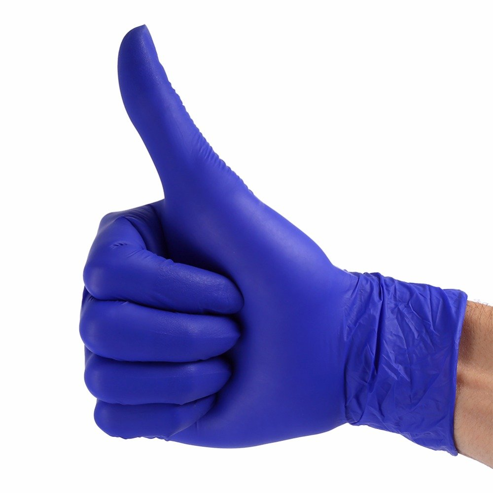 Laz Tipa - 100pcs/box Nitrile Disposable Gloves Purple Non Latex Home Kitchen Cleaning Gloves S M L Size (S) by Laz Tipa (Image #2)