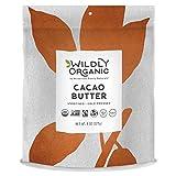 vegan butter extract - Raw Cacao Butter - Fairtrade certified & USDA Organic, Non-GMO, Kosher, Vegan - Smooth & Delicious- Wildly Organic - 8 Ounces