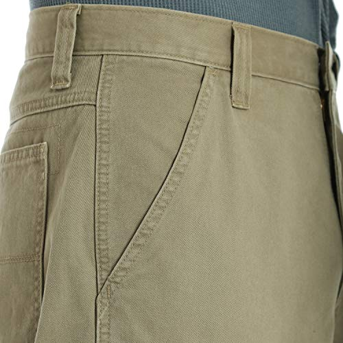 Wrangler Men's Authentics Classic Cargo Pant, British Khaki Twill, 36W x 32L by Wrangler (Image #4)