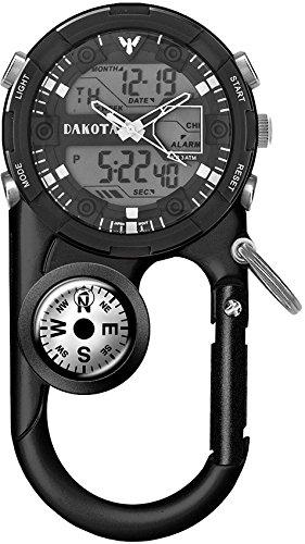Dakota II Analog and Digital Clip Watch - Black