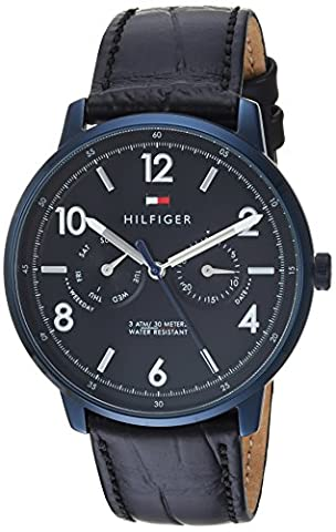 Tommy Hilfiger Men's 'Sophisticated Sport' Quartz Resin and Leather Casual Watch, Color:Black (Model: (G Shock Gloss)