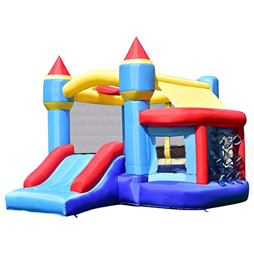 Bouncer House Slide Inflatable Castle Bounce Jumper Moonwalk Kids Jump Blower Play Outdoor Fun by Alek...Shop