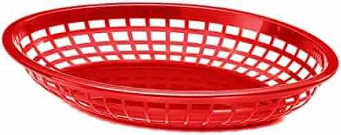 6 x polipropileno Jumbo bandeja ovalada de cestas de comida rápida ...