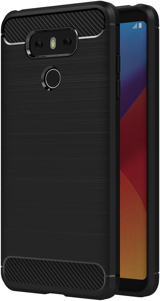 AICEK Funda LG G6, Negro Silicona Fundas para LG G6 Carcasa LG G6 ...