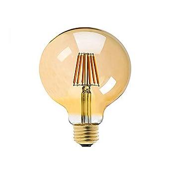 Century Light - E27 Bombillas Edison 8W Bombilla Vintage G125 LED Retro Blanco Cálido 800LM Bombillas