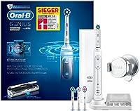 Oral-B Genius9000N Elektrische Zahnbürste, mit Bluetooth-Verbindung, 4Aufsteckbürsten,Premium-Lade-Reise-Etui, weiß