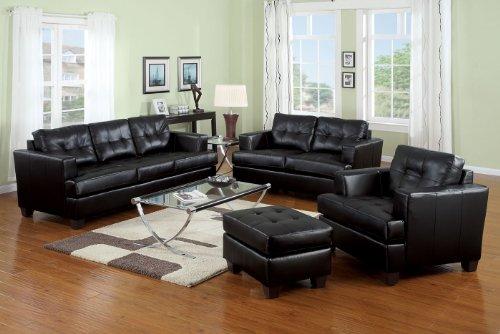 Acme 15090b Diamond Bonded Leather Sofa With Wood Leg