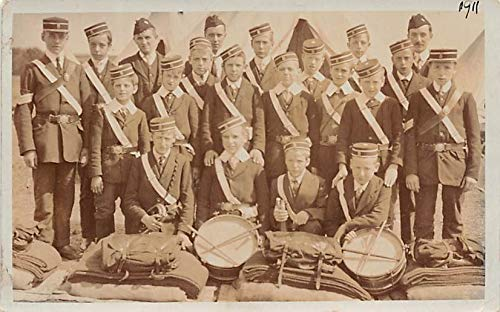 Bands Music Post Card Military Band Postcard Writing on back