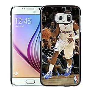 Fashionable Antiskid Cover Case For Samsung Galaxy S6 With LA Clippers Chris Paul 1 Black Phone Case