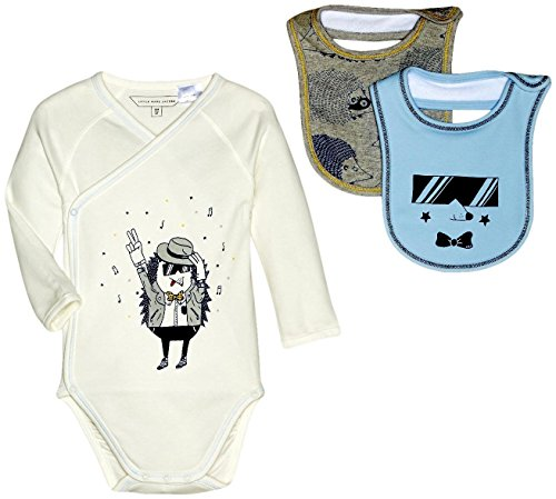 Little Marc Jacobs Baby Girls' Set of Bodysuit and 2 Bibs Sold with Mouse Pouch (Infant), Off- Off-White 1 ()