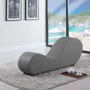 Modern bonded leather chaise lounge yoga chair for Chaise yoga