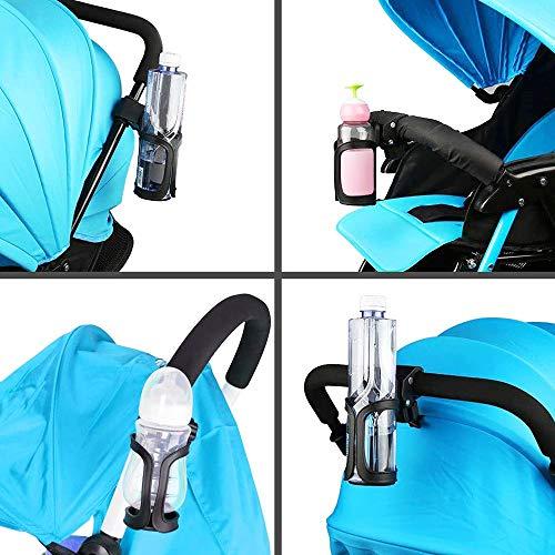 Huahua Bike Cup Holder,360 ° RotacióN Ajustable Portavasos para Bicicleta,Portabotellas para Bicicletas De Ciclismo, Bicicletas De MontañA, Cochecitos De Bebé Y Sillas De Ruedas