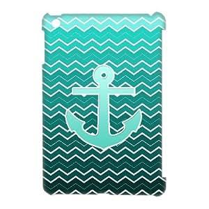ALICASE Diy Blue Chevron Anchor Phone Case For iPad Mini [Pattern-1]