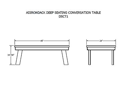Amazon.com : Highwood Adirondack Conversation Table, Charleston Green :  Patio Coffee Tables : Garden U0026 Outdoor