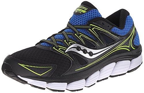Saucony Mens Propel Vista Running Shoe, Black/Royal/Citron, 42 D(M) EU/7.5 D(M) UK