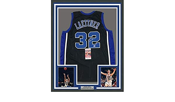 d1989574863f Signed Christian Laettner Jersey - FRAMED 33x42 Black COA - JSA Certified - Autographed  College Jerseys at Amazon s Sports Collectibles Store