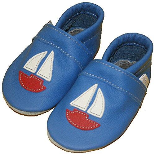Zapatos de bebé vela barco), color azul - Kornblume