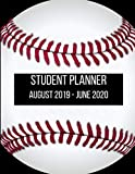 Student Planner  2019-2020: Baseball Player Academic Agenda 8.5 x 11 in. August 2019 to June 2020  Daily Weekly Planner with Assignment and To-Do List