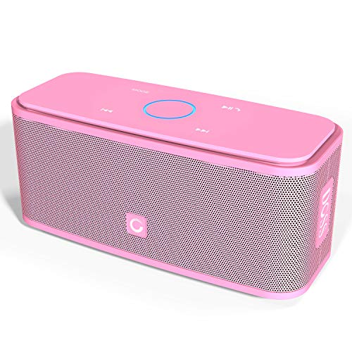 - DOSS SoundBox Bluetooth Speaker, Portable Wireless Bluetooth 4.0 Touch Speakers with 12W HD Sound and Bold Bass, Handsfree, 12H Playtime for Phone, Tablet, TV, Gift Ideas[Pink]