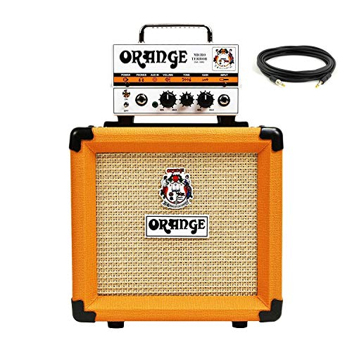 Orange MT20 PPC108 Bundle Micro Terror Tube Hybrid Guitar Amp Head & -
