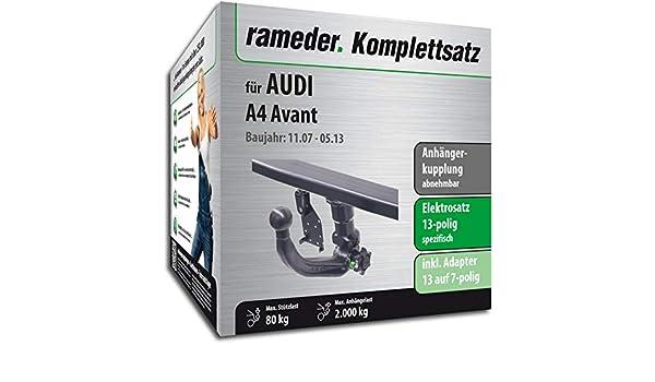 rameder Juego completo, remolque extraíble + 13POL Elektrik para Audi A4 Avant (117924 - 06988 - 1): Amazon.es: Coche y moto