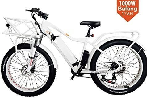BRIGHT GG NAKTO 20 inch 300W Fat Tire Electric Bike for Adults Snow Mountain Beach Ebike with Shimano 6 Speed Gear and 48V 8AH Lithium-Ion Battery