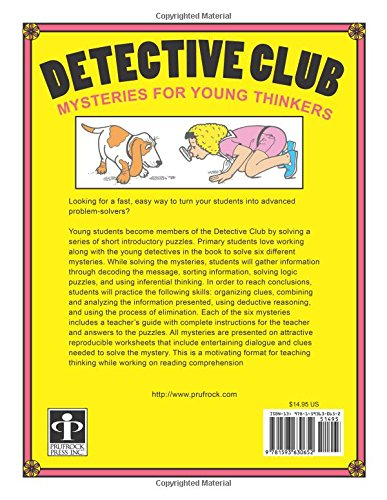 Detective Club: Mysteries for Young Thinkers: Sharon Eckert, Judy ...
