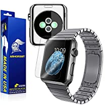 ArmorSuit MilitaryShield - Apple Watch 42mm Screen Protector [Full Screen Coverage] + Full Body Skin Protector - Anti-Bubble and Extreme Clarity HD Shield with Lifetime Replacements