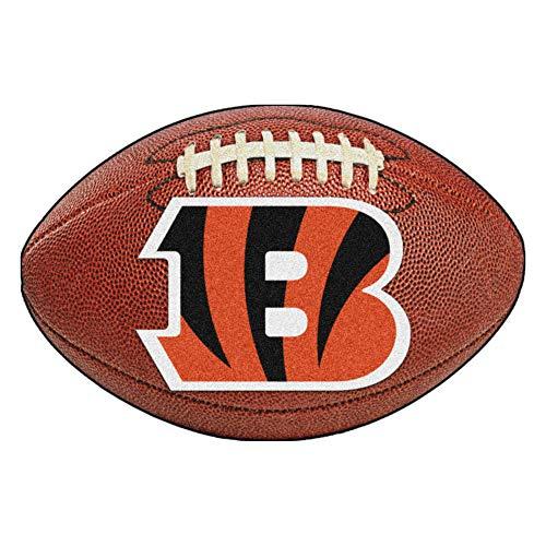 FANMATS NFL Cincinnati Bengals Nylon Face Football Rug