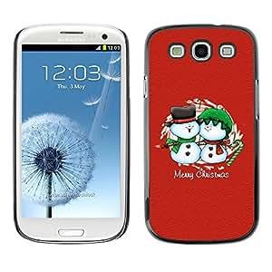 YOYO Slim PC / Aluminium Case Cover Armor Shell Portection //Christmas Holiday Merry Chrstmas Friendly Snow Men 1105 //Samsung Galaxy S3