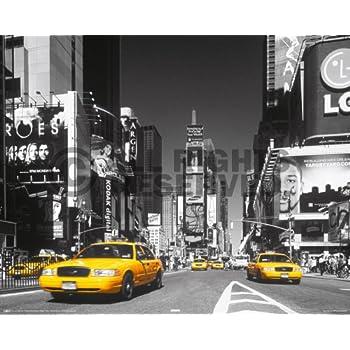 Amazon.com: Ciudad de Nueva York Times Square, Taxi Amarillo ...